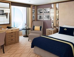Large Britannia Single Stateroom. Foto: Cunard Line.